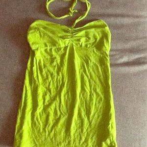 Lime green strapless top/ tube top